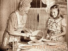 Reminds me of helping Mammy make her homemade pies, stirring the filling, whipping the meringue, and best of all, eating them.  She was the best cook, nobody could beat her butterscotch pies!