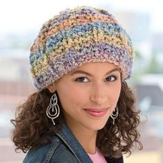 Not every knit hat pattern has to be time consuming and difficult to master. This Soft Pastel Knit Hat brings with it the beautiful colors of spring while providing the relaxed fit everyone looks for in a hat.
