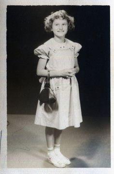 Vintage Photo..Little Lady, 1950's Original Found Photo, Vernacular Photography by iloveyoumorephotos on Etsy