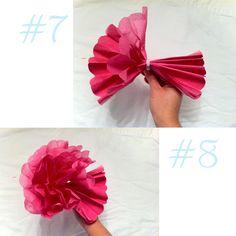 Liz mathews handmade tissue paper flowers diy winter wedding diypaperflowers diy tissue paper flowers hoopla mightylinksfo