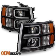 2007-2013 Silverado 1500 07-14 2500HD 3500HD Black LED Tube Projector Headlights | eBay Motors, Parts & Accessories, Car & Truck Parts | eBay!