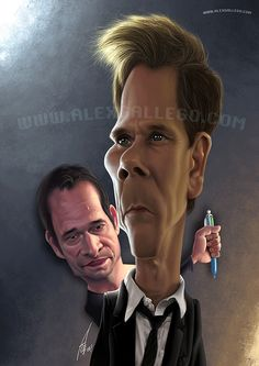 #TheFollowing #caricature #illustration @JamesPurefoy @K.J. Bacon by www.alexgallego.com
