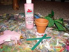 DIY barbie house plant