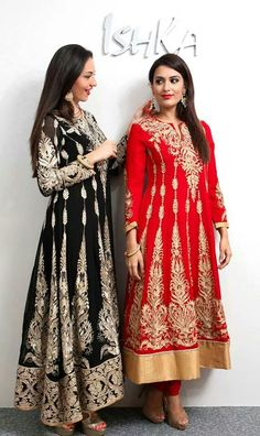 #black #red #anarkali
