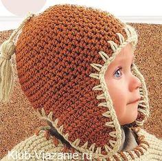 Вязание детской шапки крючком. Размеры шапочки: 3-6/12-18/24 месяца