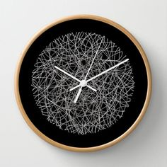 'circle-lines-inverted' wall clock by trashdesign