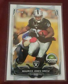 2014 Topps Power Players Maurice Jones Drew Oakland Raiders in Sports Mem, Cards & Fan Shop, Cards, Football | eBay