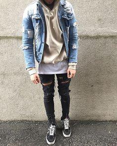 "#BestOfStreetwear on Instagram: ""Be sure to check @redvestment for daily fashion posts. #BestOfStreetwear Outfit by @sxvsu Jacket - sxvsu selfmade Hoodie - Asos Tee - HM Jeans - sxvsu selfmade Shoes - Vans"