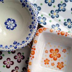 Dot Art Painting, Pottery Painting, Mandala Design, Mandala Art, Zentangle, Dots, Plates, Tableware, Crafts