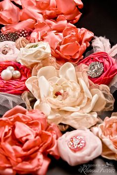 Fabric flowers galore!