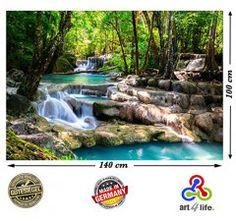 Produkttests und mehr: Testangebot Art4life Wandbild Wasserfall im Wald N...