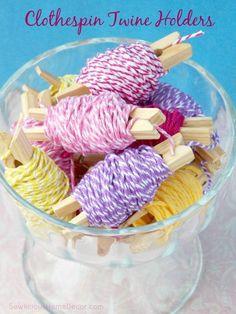 Twine and Floss Holders   Craft Organization Ideas