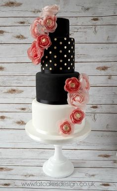 Oh, this is so lovely. Sharp but pretty all at once. I love the soft sophisticated design and colours. Also, making a note of the rounded edges on this cake: who says they have to be sharp to be good quality!