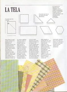 PATCHWORK: curso rápido   Variasmanualidades's Blog Ideas Paso A Paso, Quilting Rulers, Book Quilt, Quilt Blocks, Embroidery Patterns, Patches, Bullet Journal, Textiles, Quilts