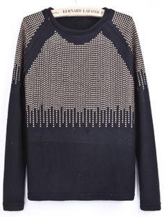 Black Long Sleeve Bead Embellished Blouse GBP£27.75