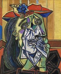 La Femme qui pleure, 1937. Pablo Picasso (1881-1973). Huile sur toile, 50 x 60 cm. Tate Modern Gallery, Londres.
