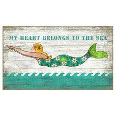Diving Mermaid Wall Decor