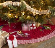 tree skirt with candy cane trim