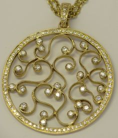 DIAMOND & 18K YELLOW GOLD NECKLACE