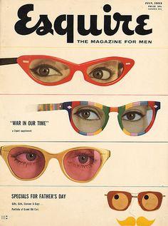 Esquire Magazine Cover: Modernist Design + New York School Graphic Design Vintage Magazines, Vintage Ads, Vintage Graphic, Vintage Vogue, Vintage Advertisements, Vintage Clothing, Composition D'image, We Are The World, Grafik Design