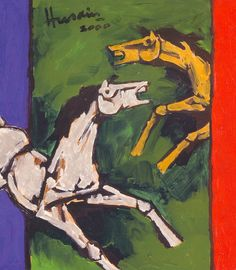 5.-A-Painting-by-M-F-Husain-His-Famous-Horses.jpg (790×905)