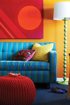 Hotel Del Sol's colorful, contemporary crash pads are outfitted in bold orange, teal and yellow shades. #Jetsetter