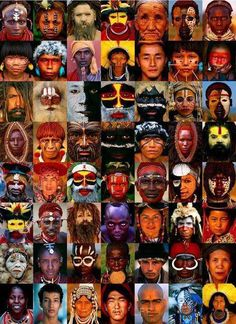 """Different colors and expressions. Different cultures and backgrounds. Different religions, different beliefs... Yet we are all the same on the inside. We are all living our human experience... We simply all are """"just people""""! Love all, Love Life, Love our Planet."""