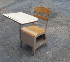 What desks looked like, once you reached about 6th grade. Before that, it was smaller desks, and before even that, it was small tables and tiny chairs.
