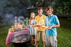 Children at backyard barbeque royalty-free stock photo