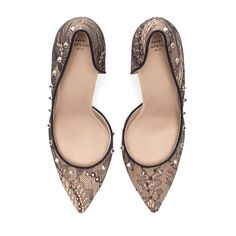 LACE COURT SHOE - High - heels - Shoes - Woman   ZARA United States