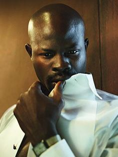 Djimon Hounsou, a stare to die for My Black Is Beautiful, Gorgeous Men, Beautiful People, Pretty People, Djimon Hounsou, Afro, Handsome Black Men, Black Man, Chocolate Men