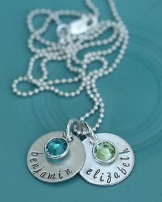 Vintage Pearl - I love this Birthstone Necklace perfect to document your children's birth month around your neck!