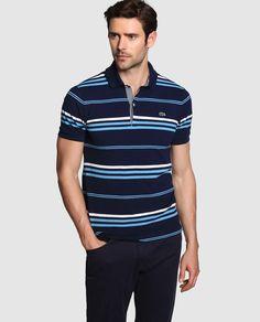 Polo de hombre Mens Striped Sweater, Striped Polo Shirt, Men Sweater, Mens Polo T Shirts, Tee Shirts, Lacoste, Mens Winter Sweaters, Polo Shirt Design, Le Polo