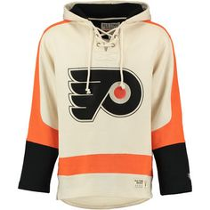 NHL Philadelphia Flyers 47 Brand Lacer Hoodie Top Sweater Jumper Pullover Mens