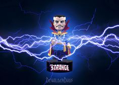 People are strange, when you're a stranger... Check out our classic Dr Strange solar powered Bodyknocker, bolts of lightning not included