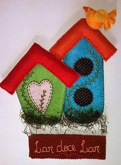 Eu Amo Artesanato: Casinha de tecido