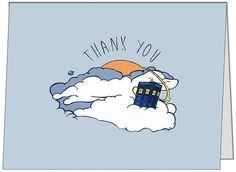 Doctor Who inspired Thank You card!! Hand painted sketch printed to thank you card, perfect personal greeting includes an envelope. #doctorwho  https://www.etsy.com/listing/209845455/thank-you-card-doctor-who-tardis
