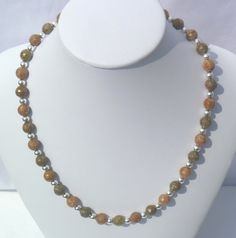 "Autumn Jasper faceted necklace 18"" OOAK by GemsandCrystalsEtc on Etsy, $65.00"