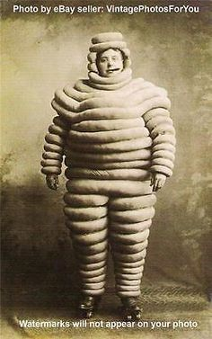 Vintage/old #early 1900 weird/strange/odd #michelin man cigar/skate #costume phot,  View more on the LINK: 	http://www.zeppy.io/product/gb/2/322097459571/