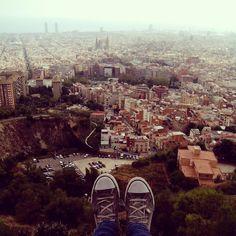 Climbing up the Turó de la Rovira to enjoy this view - Barcelona, Spain