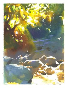 Angeles Creek Study by NathanFowkesArt.deviantart.com on @DeviantArt