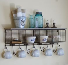 Wire Mesh Cubby Shelf