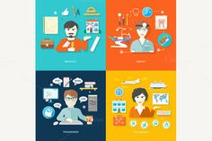 Travel Agent, Architect, Dentist by robuart on Creative Market