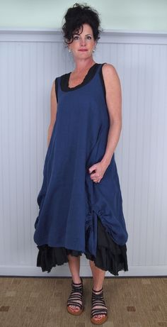 Tina Givens Simplicity Dress Layered Over Angel Adjustable Tank Dress with Gidigio Tootsie Sandal