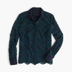 Edged-lace blouse : sale   J.Crew