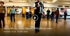 Neon Moon ( Line Dance ) With Music Music: Neon Moon By: Brooks & Dunn Instructor: Dancinjim Exercise Videos, Workout Videos, Brooks & Dunn, Neon Moon, Bing Video, Music Music, Zumba, Line, Dancing