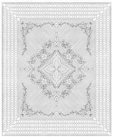 """Garden Bouquet - White - 88"""" x 106"""" whole cloth quilt premarked"""