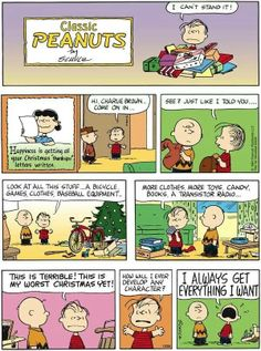 Peanuts comic strip