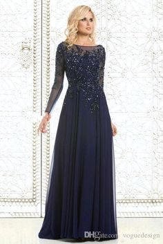 Royal Blue Bride Mother's Dresses Long Sleeves Lace Applique Beading Wedding A Line Evening Gowns Floor length Plus size Mother's Gowns
