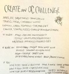 Who doesn't want a new oc challenge? -------- go to my account for more challengesss 30 Day Drawing Challenge, Art Style Challenge, Oc Challenge, Art Journal Challenge, Drawing Ideas List, Drawing Tips, Oc Drawing Prompts, Drawing Drawing, Drawing Games